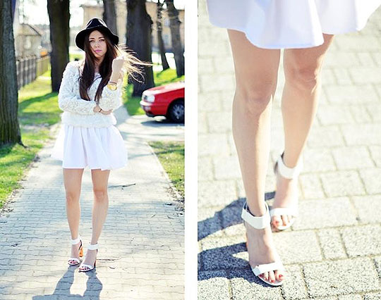 Almost total white - Sweaters, Weeken, Skirt, Weeken, Heels-wedges, Weeken, Kasia Gorol, Poland