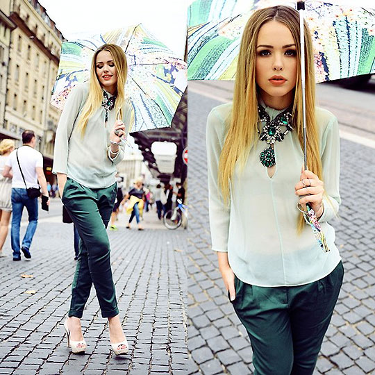 MARY KATRANTZOU x HARBOUR CITY - Umbrella, Weeken, Top, Weeken, Pants, Weeken, Heels-wedges, Weeken, , Kristina Bazan