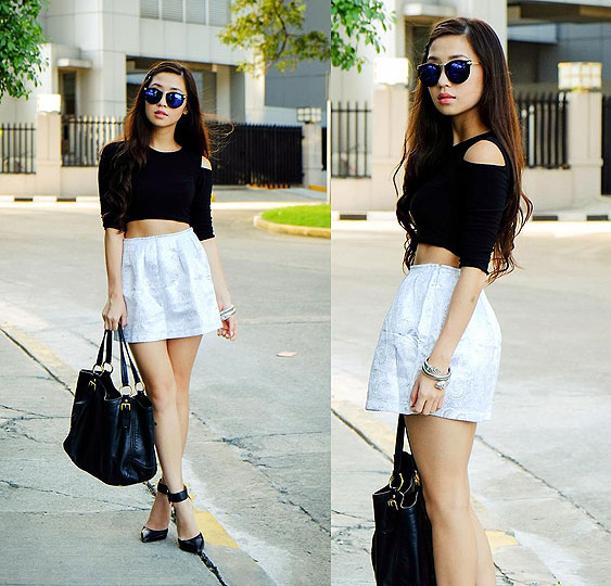 Black and Shine - Top, Weeken, Skirt, Weeken, Kryz Uy, Philippines