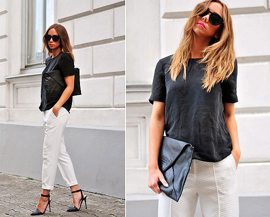 Less is more...at least sometimes - Cat-eye sunglasses, Weeken, Top, Weeken, Pants, Topshop, Clutch, Weeken, Shoes, Weeken, Lisa Olsson, Sweden