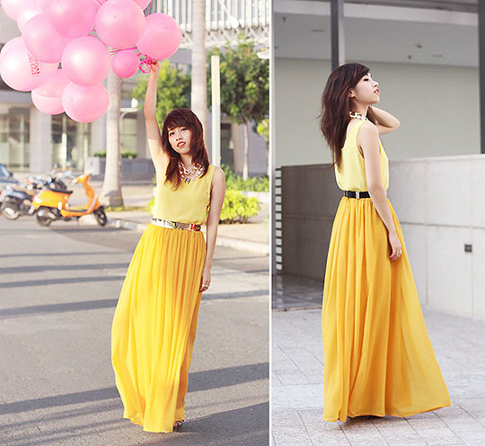 Growing up won't bring us down - Top, Weeken, Maxi skirt, Weeken, Linda Tran, Vietnam
