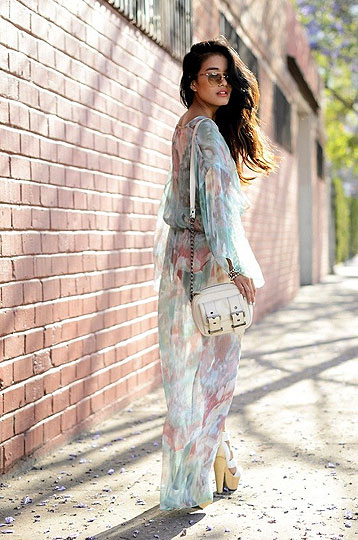 Watercolor - Dress, Weeken, BAGS, Weeken, Heels-wedges, Weeken, Olivia Lopez, United States