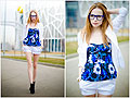 Blue top, Top, Weeken, Blazers, H&M, Shorts, Weeken, Tini Tani, Russian Federation