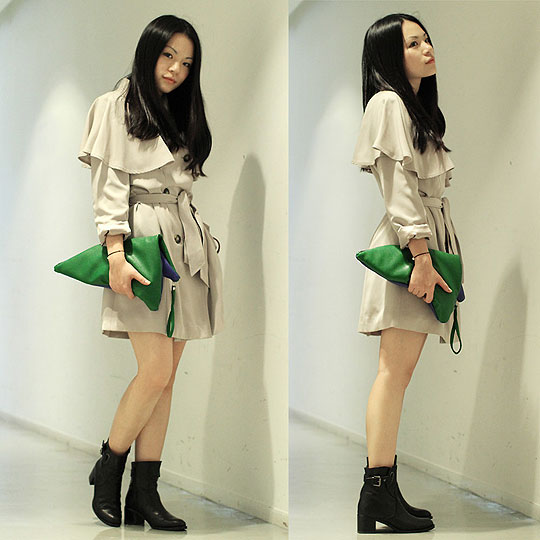 The do-The bridge is broken - Trench coat, Bread n Butter, Clutch, Weeken, Boots, Weeken, Yuki Lo, Hong Kong