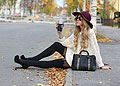 GIVE ME COFFE, KING-SIZED CUP, SUSPENDER TIGHTS, Pretty Polly, ALLYY PUMPS, Steve Madden, Sweaters, Weeken, Anna Wiklund, Sweden