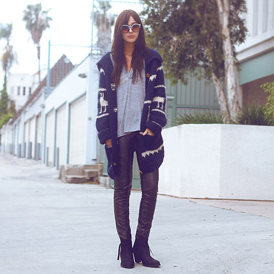 LLAMA SWEATER - Llama sweater, Weeken, Faux leather pants, Weeken, Tshirt, Weeken, Boots, Topshop, BRIT N