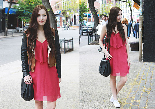 SOHO Shopping - Layered pink dress, Weeken, Coats, Weeken, BAGS, Weeken, Flats, Weeken, Breanne S, Canada