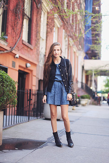 Denim Dress in NYC - Boots, Weeken, Dresses, Weeken, BAGS, Weeken, Coats, Weeken, Bethany Struble, United States