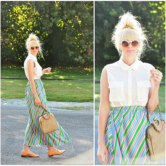 Early fall. - Skirt, Weeken, Top, Weeken, BAGS, Weeken, Flats, Weeken, Coury Combs, United States