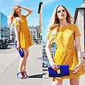 LITTLE MISS SUNSHINE, Dress, Topshop, Clutch, Vince Camuto, Heels, Zara, Kristina Bazan, Switzerland