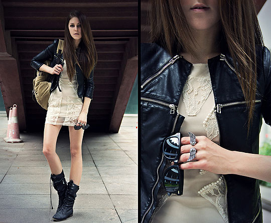 Girl Next Door - DRESS, Topshop, RING, Bershka, BAG, Weeken, BOOTS, Bershka, Katerina Kraynova, Russia