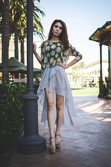 Light & airy - Blouse, Weeken, Asymmetrical skirt, Weeken, Wedges, Forever21, Samantha Mariko, Japan