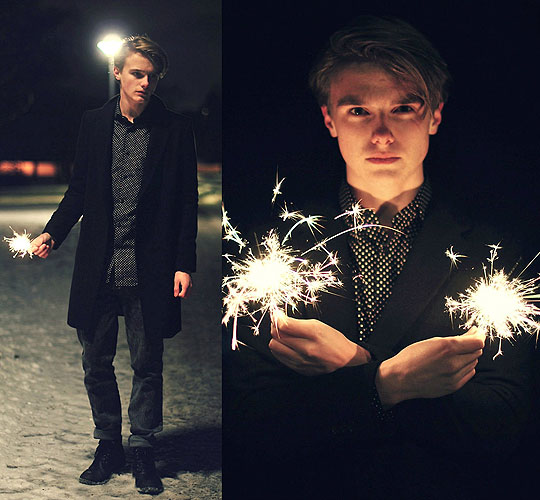 Light up my world - Shirt, H&M, Coat, Weeken, Jeans, Cheap Monday, Theo Ortengren, Sweden
