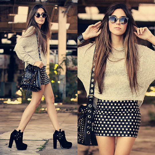 Stud My Life - Skirt, Weeken, Jumper, Weeken, Sunglasses, Weeken, Bag, Weeken, Van Der Linden, Brazil