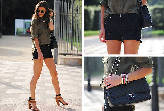 Khaki Green - Shirts, Weeken, Shorts, Weeken, Bags, Weeken, Heels-wedges, Weeken, Zina CH, Spain