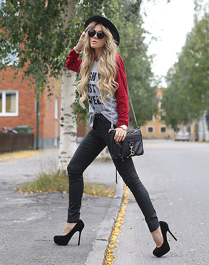 MIGHT JUST ASWELL - PRINTED TOP, Weeken, MAC BAG, Rebecca Minkoff, PUMPS, Steve Madden, Anna Wiklund, Sweden