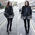 Contrast. - Faux fur jacket, H&M, Polo neck, Zara, Boots, Forever21, Backpack, GUESS, Anouska Proetta Brandon, United Kingdom