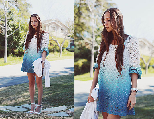 Ombre Day - Dip dyed lace dress, Weeken, Heels-wedges, Weeken, Bethany Struble