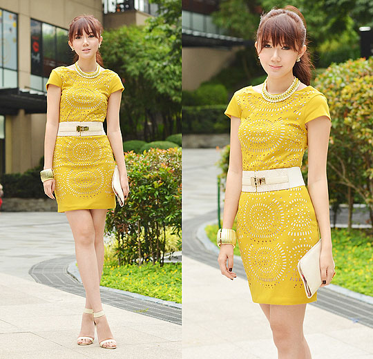 Mellow Yellow - Dress, Weeken, Heels, Weeken, Camille Co, Philippines