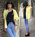 YELLOW - Coat, Weeken, Top, Weeken, Pants, Weeken, Heels-wedges, Zara, Constance Victoria, United States