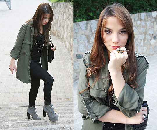 THE HUNTREND: Spikes - Handbag, Mango, Jacket, Zara, Shoes, Weeken, Pants, Zara, Guiri Uribe, Spain