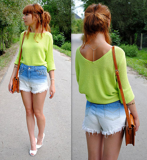 Ombre shorts - Sweater, Weeken, Shorts, Weeken, Bags, Weeken, Heels-wedges, Weeken, Hannnah P, Poland