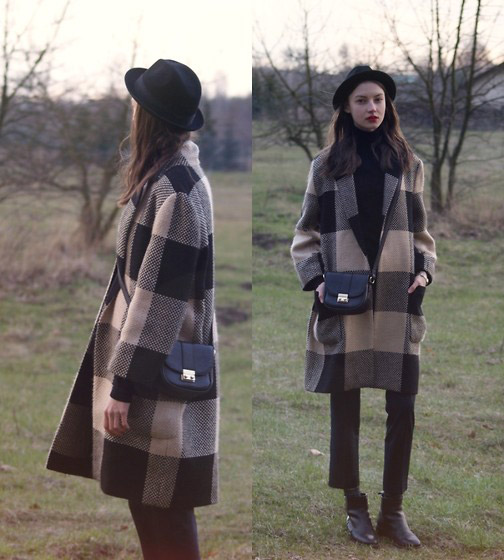 ~ Moins est Plus ~  - Hat, H&M, Coat, Zara, Bag, Weeken, Turtleneck sweater, H&M, Trousers, Zara, Boots, Zara, Maria Joanna, Poland