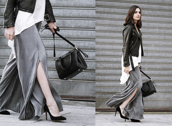 The silver pleated pants - Bag, Weeken, Heels, Weeken, Aria, France