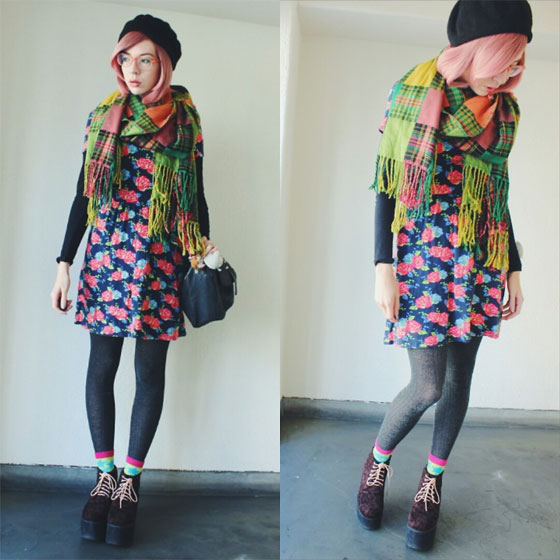 🍉 Suika 🍉 - Plaid Scarf, Weeken, Leopard Platforms, Weeken, Floral Dress, Weeken, Candy Thorne, Japan