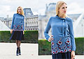 Embroidered blouse at the Pyramide du Louvre - Embroidered blouse, Weeken, Knee lenght skirt, Weeken, Eleonora, Italy