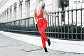 How to wear red, Red crop top, Weeken, Red high waist trousers, Weeken, Kristina Dolinskaya, Ukraine