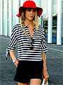 Marin d'eau douce - Red hat, Weeken, Sunglasses, Weeken, Watch, Weeken, Camille Bouteila, France