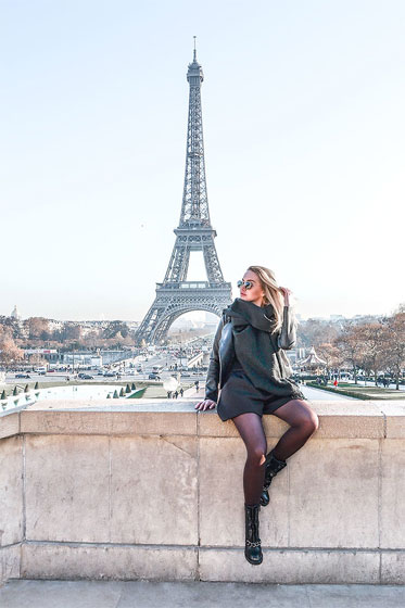 Total black in Paris - Sunglasses, Weeken, Black Boots, Weeken, Jackets, Weeken, Darya Yakovleva, Russia