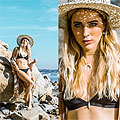 California Winters, Classic Tie Dye Sand Dune Kimono, Bijou, Corsica Bikini, Weeken, Crescent Horn Layered Choker, Weeken, Namiko Hat, Weeken, Ashley Prybycien, United States