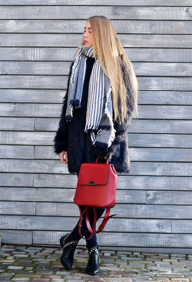 Winter sunny day - Scarf, Weeken, Boots, Weeken, Bag, Zara, Lisa, Ukraine