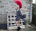 A bout de souffle, Choker & shoes, Weeken, Dress, Weeken, Marion Lemos, France