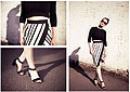 Sunshine Stripes, Sunglasses, Weeken, Blouse, Weeken, Skirt, Weeken, Sandalias, Weeken, StyleRarebit, United Kingdom