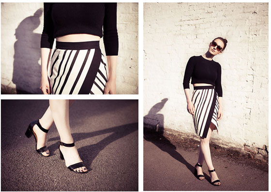 Sunshine Stripes - Sunglasses, Weeken, Blouse, Weeken, Skirt, Weeken, Sandalias, Weeken, StyleRarebit, United Kingdom
