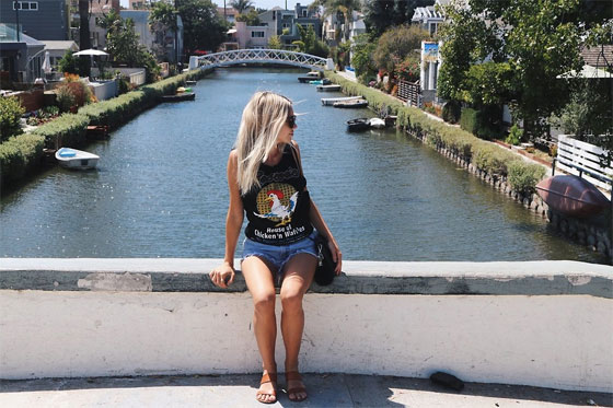 VENICE BEACH CANALS - TANK, Weeken, SHORTS, Weeken, Sunglasses, Weeken, Bag, Weeken, Alexa Jade Warren, Canada