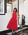 RED LACE, Dress, Weeken, Bag, Weeken, Flats, Weeken, Amelyn B, Singapore