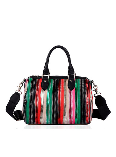Color Series PU Leather Handbag