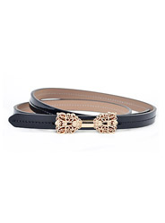 Wild leather belt