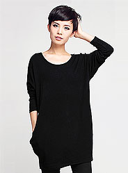 Autumn round neck long-sleeved sweater loose minimalist