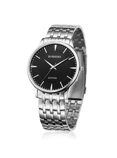 Thin stainless steel quartz watch