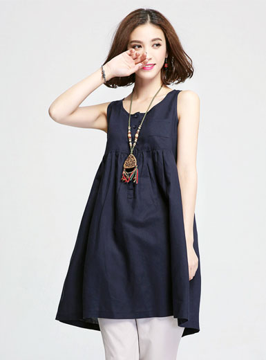 The new vest sleeveless dress
