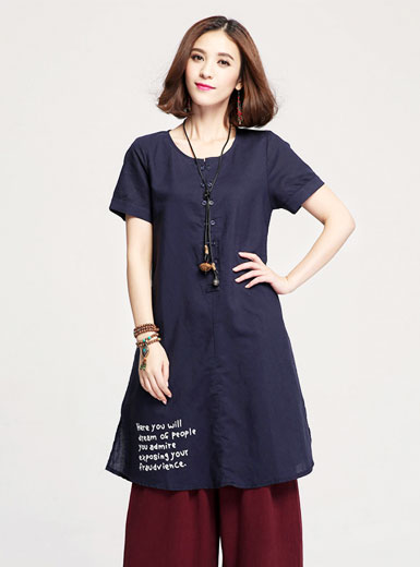 In the long section of lotus leaf swing short sleeved dress