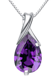 Sterling Silver Pendants Fashion Amethyst High - end Necklace