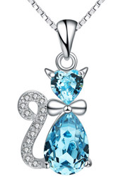 Korean version of cute cat color crystal pendant cartoon items ornaments