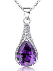 Amethyst micro-set high-end quality pendant