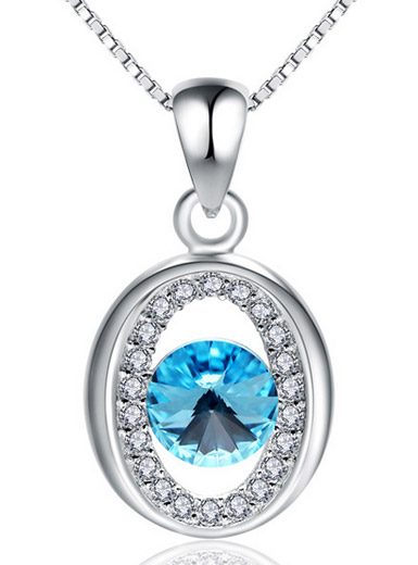 Korean luxury sparkling hollow crystal inlaid pendant